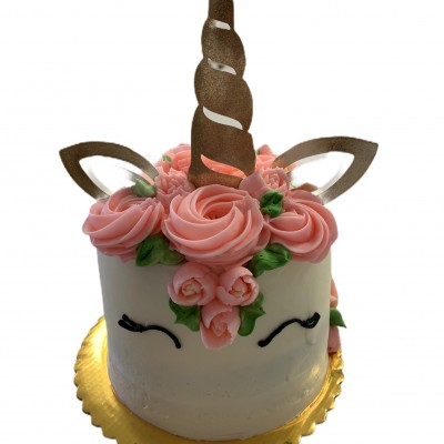 Unicorn Cake 6-Inch Double Layer serves 12-15
