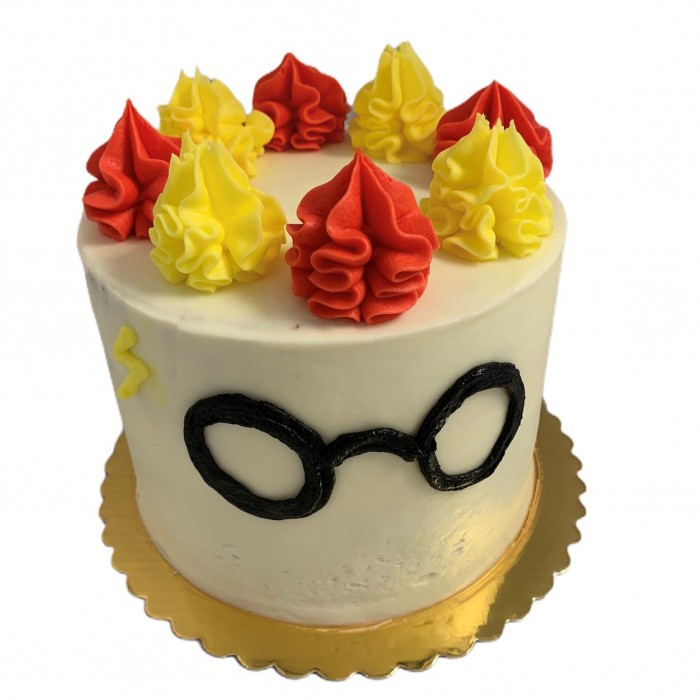 "Harry Potter Butter Beer Cake 6"" double layer serves 15"