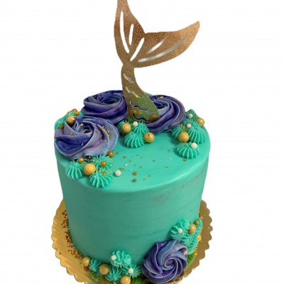 Mermaid cake 6-Inch double layer seves 15