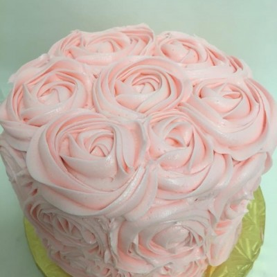 Signature Ribbon Rosette Cake 6-Inch Double Layer (serves 12-15)
