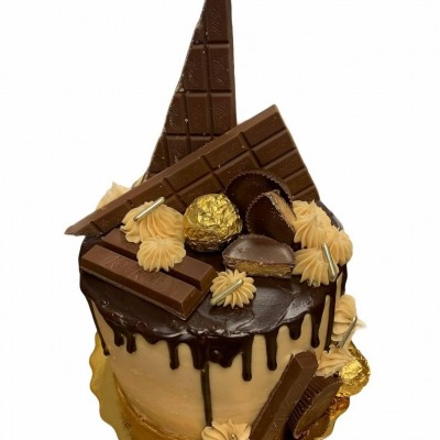 Chocolate PB Drip Cake 6-Inch double layer serves 12-15