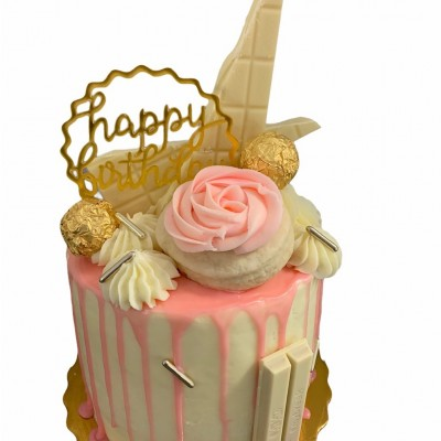 Pretty in PINK Drip Cake 6-Inch dbl layer serves 12-15