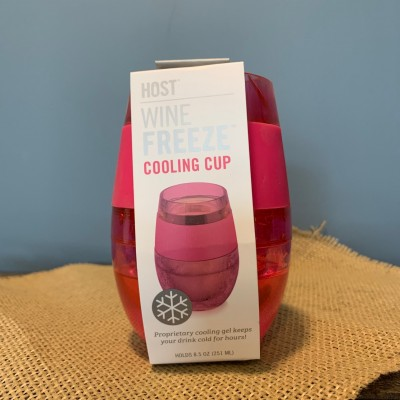 Wine Freeze Cooling Cup (Hot Pink)