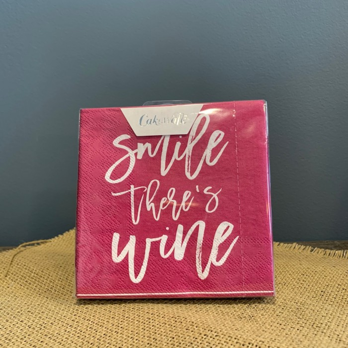 """Smile There's Wine"" Napkins"