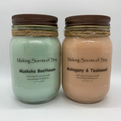 Woody/Earthy Scent Soy Candles